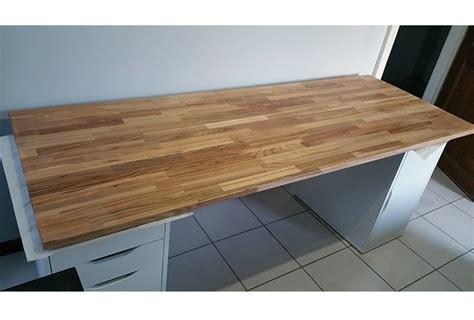 plateau bureau bois massif création de bureau sur mesure en bois avec