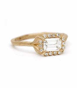 one of a kind dewdrops in the garden emerald cut With one of a kind wedding rings