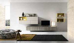 Meuble Moderne Salon : le meuble mural salon quelques exemples par alf group ~ Teatrodelosmanantiales.com Idées de Décoration