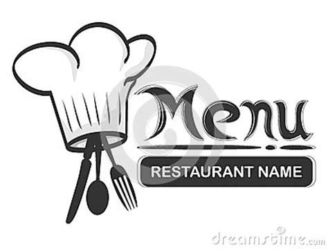 restaurant logo fork stock  image