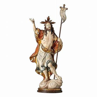 Risen Christ Statue Pure Gold Painted Finish