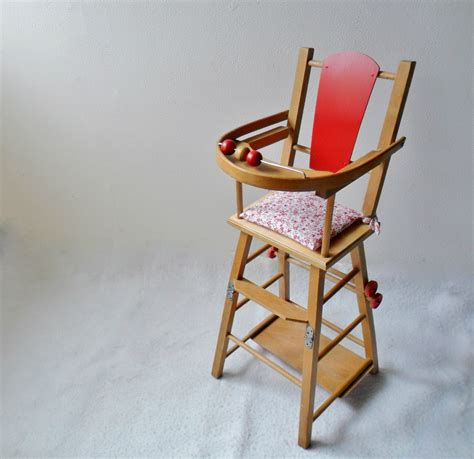 coussin pour chaise haute en bois chaise haute ancienne en bois pour poupée coussin fleuri