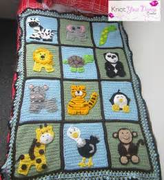 Crochet Baby Blanket Patterns with Animals