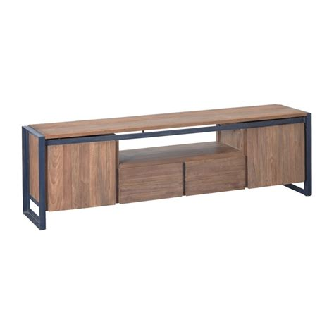 tv meubel hout d bodhi fendy industrieel tv meubel hout