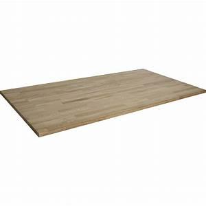 Plateau Pour Table : plateau de table ch ne lamell coll x cm x mm leroy merlin ~ Teatrodelosmanantiales.com Idées de Décoration