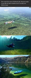 The crystal clear water of Flathead Lake, Montana makes it