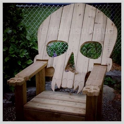 skull adirondack chair plans skull deck chair boneyard gardens awesome