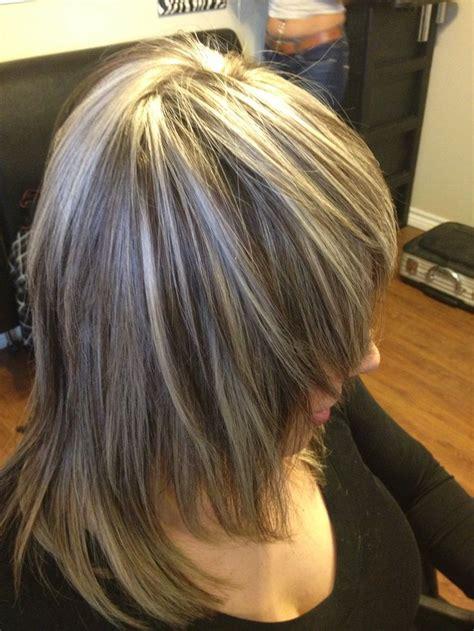 ash tone thick highlight hair pinterest thick