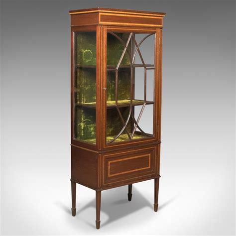 mahogany display cabinet antique glazed display cabinet mahogany edwardian 3954