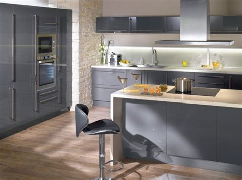 deco cuisine gris et blanc aménagement déco cuisine gris et blanc