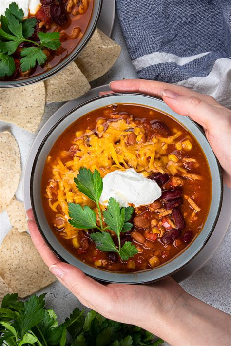 I lightened this instant pot® goulash up by using ground turkey instead of beef. Instant Pot Turkey Chili | Veronika's Kitchen | Recipe | Turkey chili, Cooking, Instant pot recipes