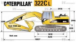 cat excavator sizes caterpillar 322c l caterpillar machinery