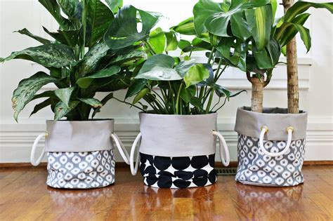 cheap pots for plants fabric planter diy a beautiful mess