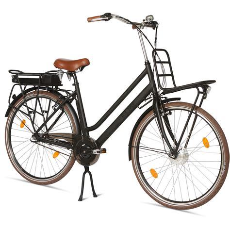 hollandrad e bike llobe e bike hollandrad 28 quot rosendaal damen schwarz