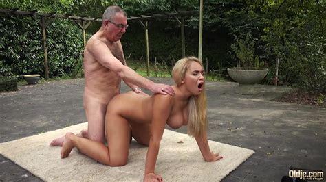Beautiful Blonde Girlfriend Fucks Horny Old Man Doggystyle