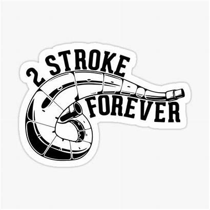 Stroke Sticker Dirt Stickers Bike Forever Redbubble