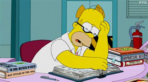 gif find on giphy homer studying gifs find on giphy Homer