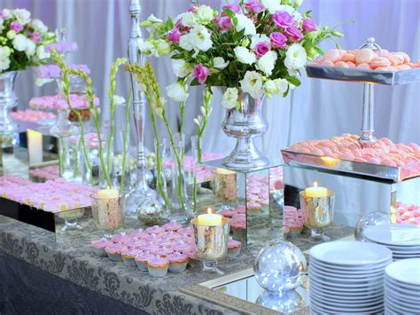 flower table decorations for weddings wedding buffet ideas using flowers for buffet table