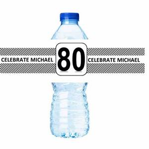 80th birthday party decorations 15ct water bottle labels With 80th birthday water bottle labels