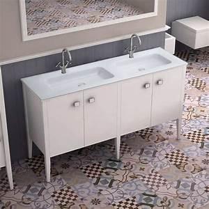 Meuble Salle De Bain 150 Cm : meuble salle de bain avec plan en r sine 150 cm touquet ~ Teatrodelosmanantiales.com Idées de Décoration