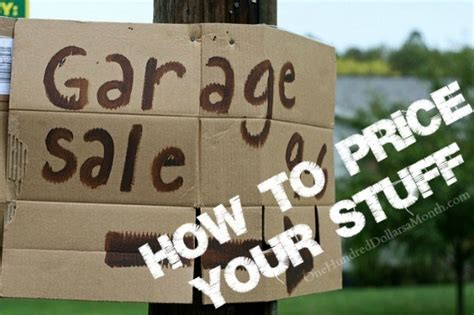 How To Price For A Garage Sale by How To Price Things For A Garage Sale One Hundred