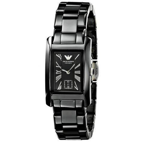 ar1407 ceramic black womens emporio armani watch ceramic