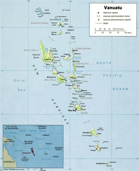 Carte du Vanuatu.
