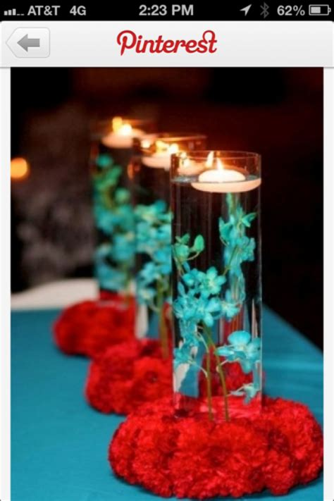 pics for gt tiffany blue and red wedding centerpieces