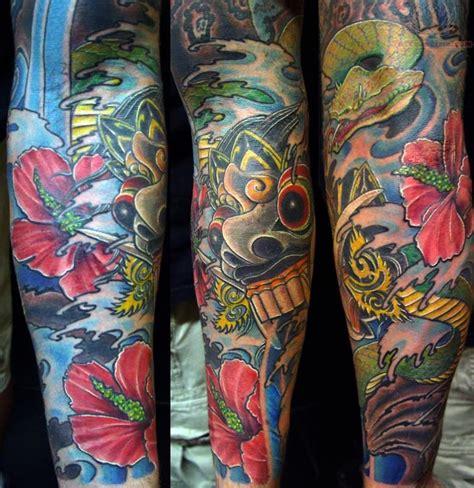 bali mask tattoo