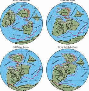 Plate Tectonic Reconstructions Showing The Position Of The