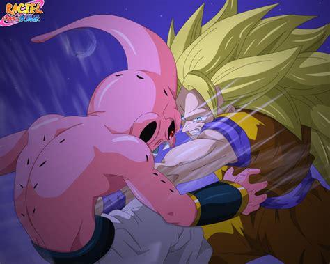 Majin L Vs Goku by Goku Vs Majin Buu By Sharineganleicar On Deviantart