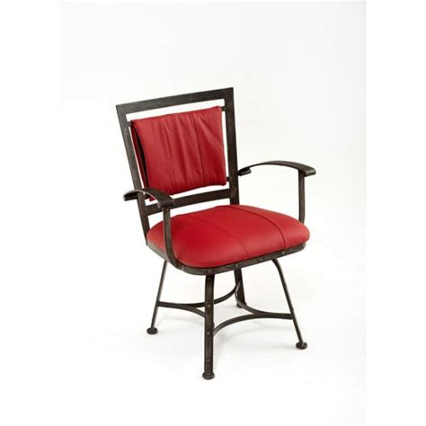 steel traditions amarillo swivel dining chair with