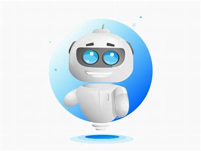 Chatbot Kiu Dribbble Robot Robo Bot Happy