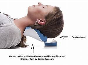 Chiropractic pillow cervical pillow to help ease neck for Best pillow for neck and shoulder tension