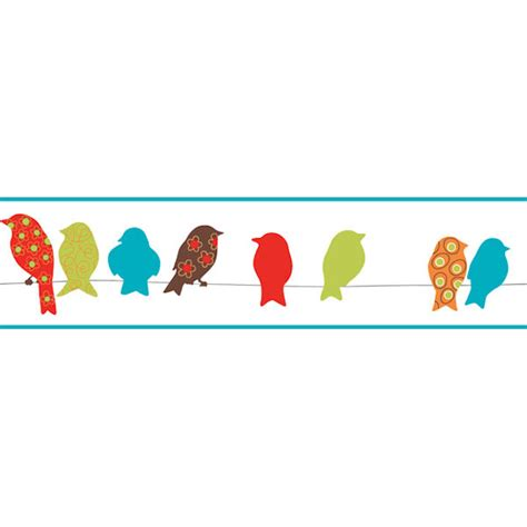 red bird on a wire border