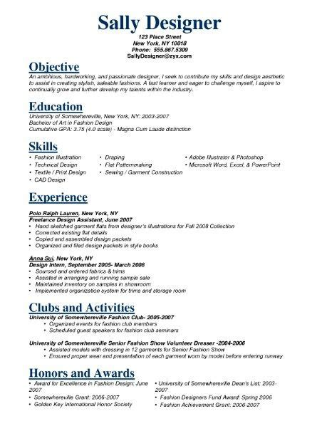 Fashion Resume Templates by Pin By Resume On Resume Sles Resume