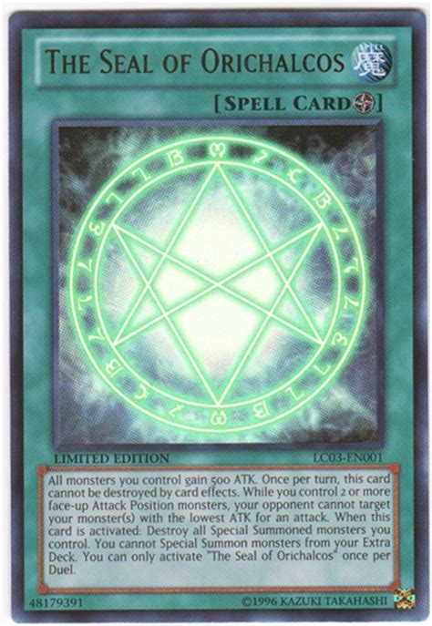 yu gi oh legendary collection 3 single the seal of