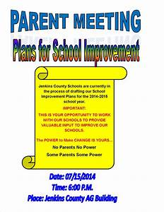 Jenkins county schools for Parent flyer templates