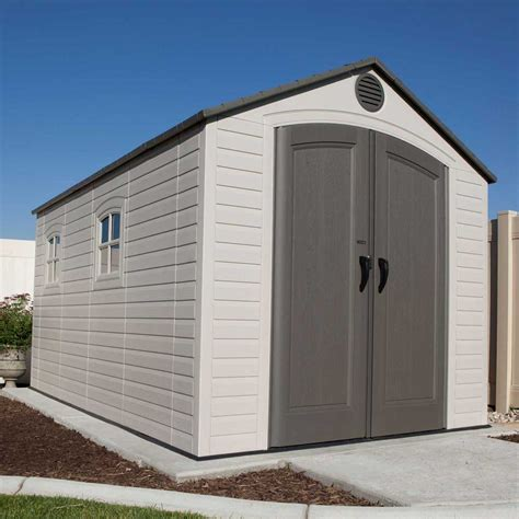 lifetime storage shed lifetime storage sheds 60075 plastic storage shed 8 x 15