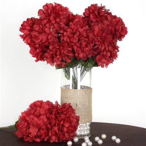 bushes  large chrysanthemum mums balls silk wedding