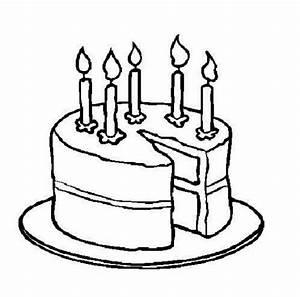 Cake black and white birthday cake clip art black and ...