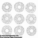 Donuts Coloring sketch template