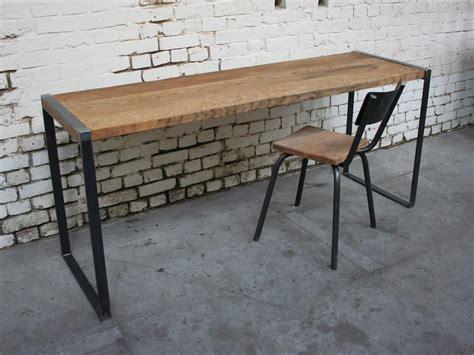 bureau metal et bois bureau metal bois