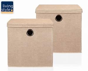 Schöne Aufbewahrungsboxen Mit Deckel : living style aufbewahrungsboxen mit deckel 2er set von aldi s d ansehen ~ Bigdaddyawards.com Haus und Dekorationen