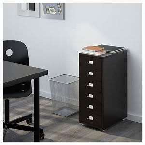 Caisson Tiroir Ikea : helmer caisson tiroirs sur roulettes noir 28 x 69 cm ikea ~ Melissatoandfro.com Idées de Décoration