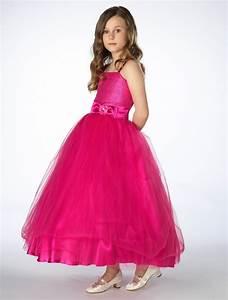 Girls hot pink dress   Girls bow dress   Bridesmaid ...