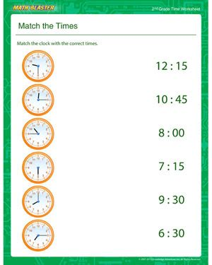 gcf and lcm worksheet match the times free time printable for 3rd grade math blaster