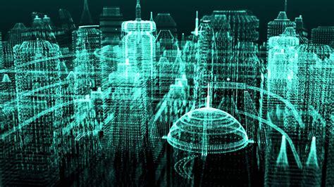 digital cyber world  motion background storyblocks video