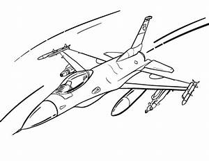 Free Fighter Plane Coloring Page