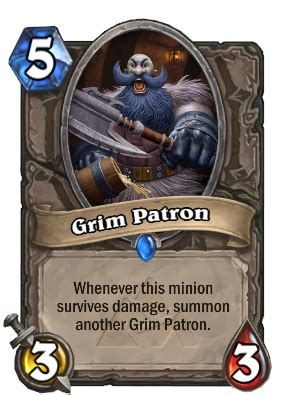 hearthstone decks warrior grim patron grim patron hearthstone cards